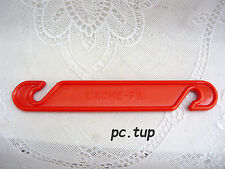 Gadget Miniature Tupperware (not keychain - Pas porte-clés) Cache-fil orange
