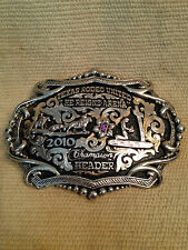 STERLING SILVER AND 10K GOLD CHAMPIONSHIP BUCKLE by BOB BERG