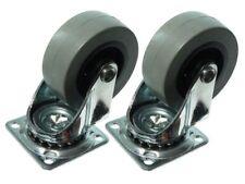 Boite de 24 - 50mm PLAQUE FIXE Simple Roulette CHARIOT ROUE résistant pivotant
