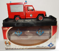 MADE IN FRANCE SOLIDO PEUGEOT P4 SAPEURS POMPIERS SDIS MEUSE 1/43 REF 4842 BOX