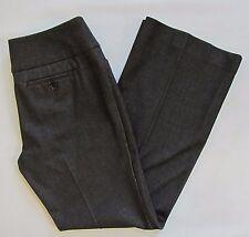 Express Editor Charcoal Black Dress Pants 4 Short S Studio Stretch Wide Waist