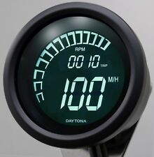 Daytona Velona Motorcycle Speedo/RPM Gauge Digital MPH/KPH incl speed sensor