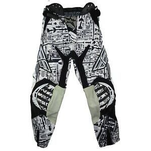 Fly Racing Evolution Motocross Pants Size 30 Black/White Cycle Protective Gear
