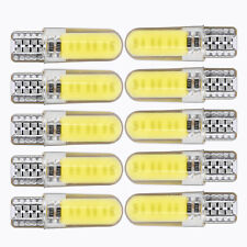 10X 300LM T10 W5W LED Car Interior Lights COB Bulbs Wedge Parking Dome Lights