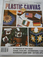 September 1997 Plastic Canvas Corner Pattern Book Magazine Tissue Box Apple 24