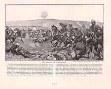 1900 ~ BOER WAR PRINT ~ KOORN SPRUIT ~ DISASTER ~ BATTLE FIELD GUNS SOLDIERS
