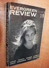 EVERGREEN REVIEW MAGAZINE VOLUME 1 Feinstein photo portfolio 1957 Sartre Beckett