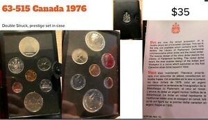 1976 Canadian Proofed Coin Set, Double Struck, Prestige In Case.