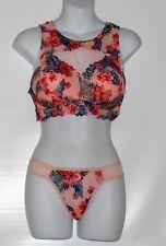 c9e89d8a2c Victoria s Secret Pink Floral Lace High Neck Bralette Euphoria Pink S ...