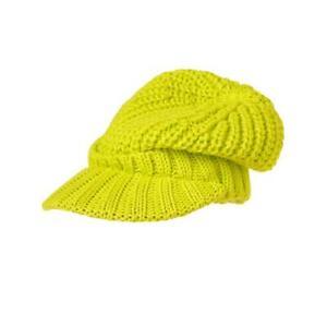 NWT Crazy 8 Boys Green Knitted Brim Beanie Hat L 10-14