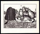 B Kliban Cats CAT FAMILY PORTRAIT vintage funny cat art print