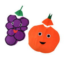 2 Sets Kids' Fruits Grape Orange Costume Fabric Outfit Dress Up Accessories