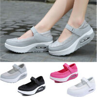 Fashion Buckle Nurse Shoes Air Cushion Sneaker Breathable Platform Swing Shoes A