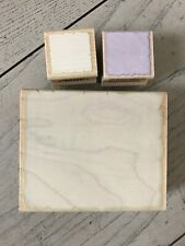 HERO ARTS WOOD RUBBER STAMP LOT OF 3 SHADOW STAMPS LARGE MINI