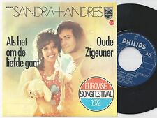 SANDRA & ANDRES Als Het Om De Liefde Gaat Dutch 45PS 1972 eurovision