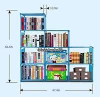 Adjustable 9-Shelf Metal Bookcase Storage Shelving Book Wide Bookshelf Furniture