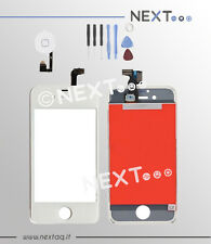 Touch screen vetro retina display frame iphone 4s bianco + kit e tasto home
