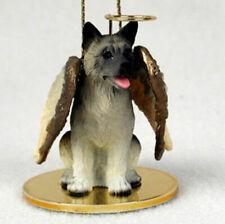 Akita Ornament Angel Figurine Hand Painted Gray
