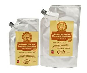 100% Natural Oatmeal Dog Shampoo & Conditioner for SENSITIVE ITCHY SKIN & FLEAS