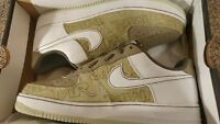 NIB Nike WMNS Air Force 1 Premium '07 Shoe, Size: 12, PISTACHIO WHITE OLIVE