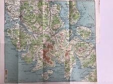 Scotland 1915 Original Antique County Map Bartholomew, Portree To Broadfoot Skye
