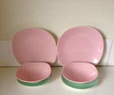 Vintage J & G Meakin England South Seas Dinner Set for 2 Retro Pastel 1950's