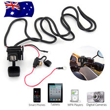 12V/24V Motorcycle Waterproof Dual USB Charger Phone Power Socket Adapter Outlet