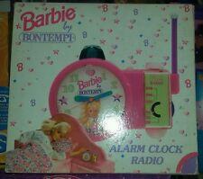 BARBIE RADIO SVEGLIA BONTEMPI - Alarm Clock - 1993 Mattel - Bambola Figure Doll