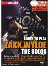 LICK LIBRARY Learn To Play The SOLOS ZAKK WYLDE MIRACLE MAN ROCK Guitar DVD
