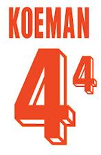 Holland Koeman Nameset 1992 Shirt Soccer Number Letter Heat Print Football A