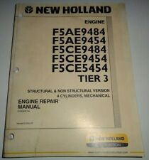 New Holland F5AE9484 to F5CE5454 Tier 3 Engine Service Repair Manual Original!
