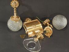 Badezimmer Set Gold Keuco Elegance vergoldet 2 Lampen Handtuchhalter Rollenhalte