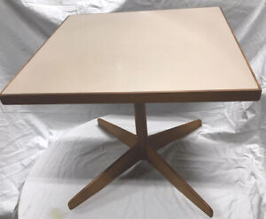 Vintage Mid Century Knoll Nelson Eames era Formica Top Square Side Table