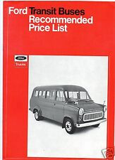 FORD TRANSIT BUSES - RECOMMENDED PRICE LIST.  1971.