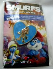 "Papa Smurf 1 3/4"" Collector's Variety Pin from Smurf Movie Comic Cartoon-New!"