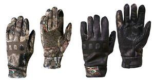 Mossy Oak Breakup Country, Black Eclipse Men's Mid-weight Non-Slip Gloves: M-XL