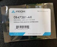 AxiomMemorySolutions 0B47381-AX AXIOM 8GB DDR3L-1600 LOW VOLTAGE SODIMM [4C]