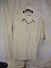 "Mens Shirt M&S, XL stone colour modal/polyester blend, pit2pit 26"", summer 0831"
