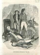 Révolution Française Paris Arrestation de Maximilien de Robespierre GRAVURE 1851