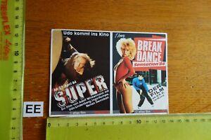 Alter Aufkleber Bühne Sänger Kino Video UDO LINDENBERG 1984 BREAK DANCE