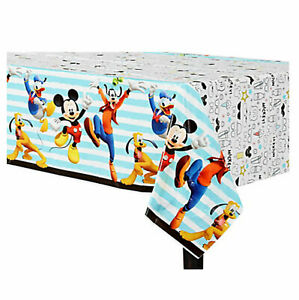 Disney Mickey Mouse Plastic Table Cover ~ Boy Birthday Decoration Party Supplies