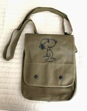 Snoopy  Canvas Crossbody Bag Case (Olive)
