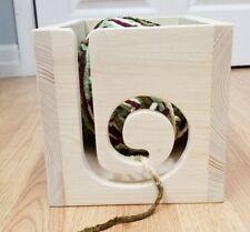 Wooden Yarn Box, Yarn Storage Box, Yarn Bowl,Wood Box, Knitting Yarn Box