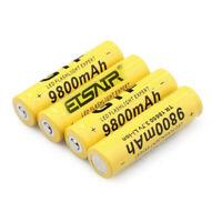 4pcs 18650 9800mAh 3.7V Li-ion Rechargeable Battery For Flashlight Torch ETSAIR