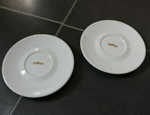 Vintage Lavazza Espresso Saucers Set of 2 Made In Italy by IPA Diameter 15 cm