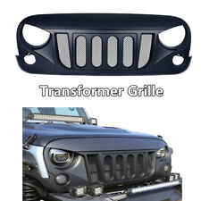 Front Matte Grille Grill Six Slots Bold for 07-17 Jeep Wrangler JK