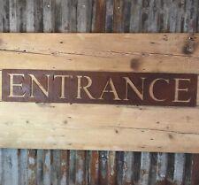 Big Rusted Entrance Sign Metal Shop Home Bar Pub Cafe Door Wall Exit