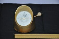 Jefferson Electric Lady Marion 580-241 Gold Bullet Mid Century Desk Clock WORKS