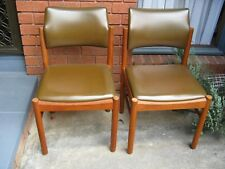 VINTAGE  RETRO PARKER / EAMES STYLE MATCHING PAIR OF DINING CHAIRS.