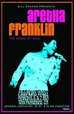 Aretha Franklin 1971 Tour Poster